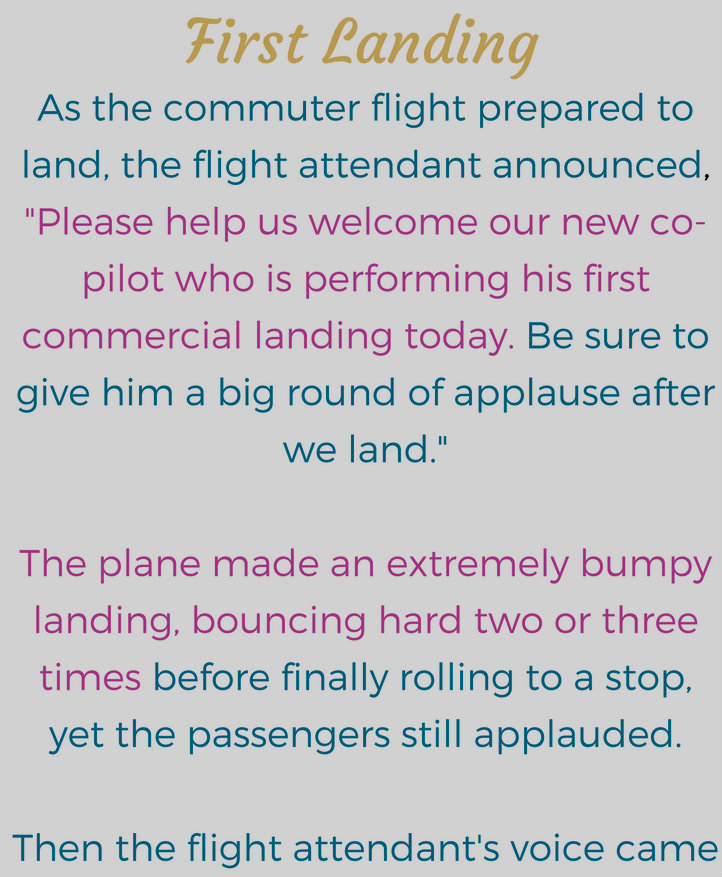First Landing (Funny Story)